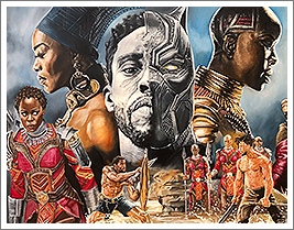 Black Panther Painting - African Heritage Art in Roselle, NJ, by AkomicsArt LLC